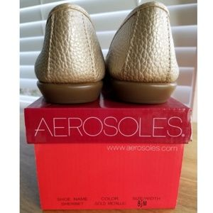 AEROSOLES Shoes - Aerosoles Sherbet Gold Metallic Ballet Flat